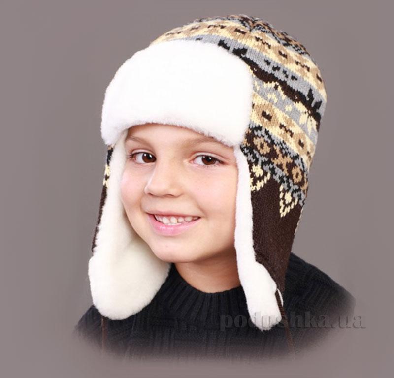 Зимняя шапка Бабасик Назарий коричневая