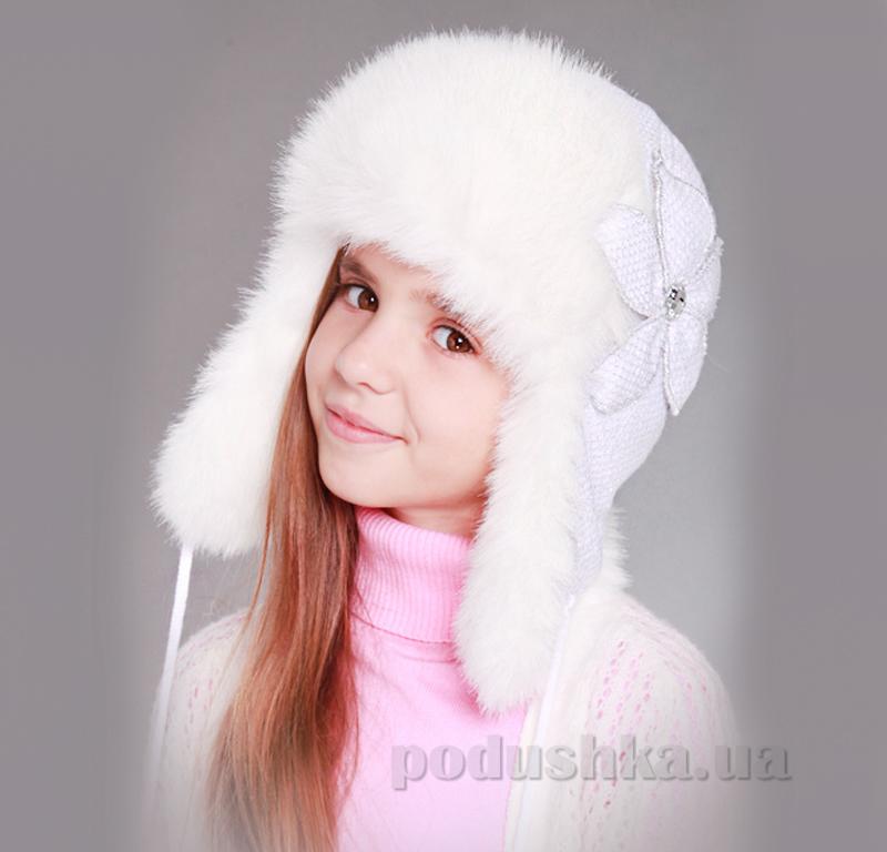 Зимняя шапка Бабасик Нора белый