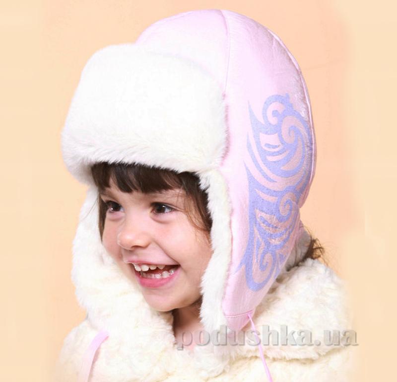 Зимняя шапка Бабасик Злата розовый