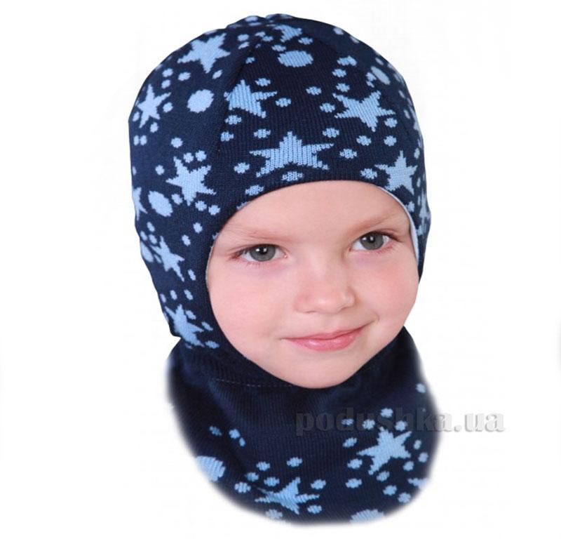 Зимняя шапка Бабасик Звездочка-2 синяя