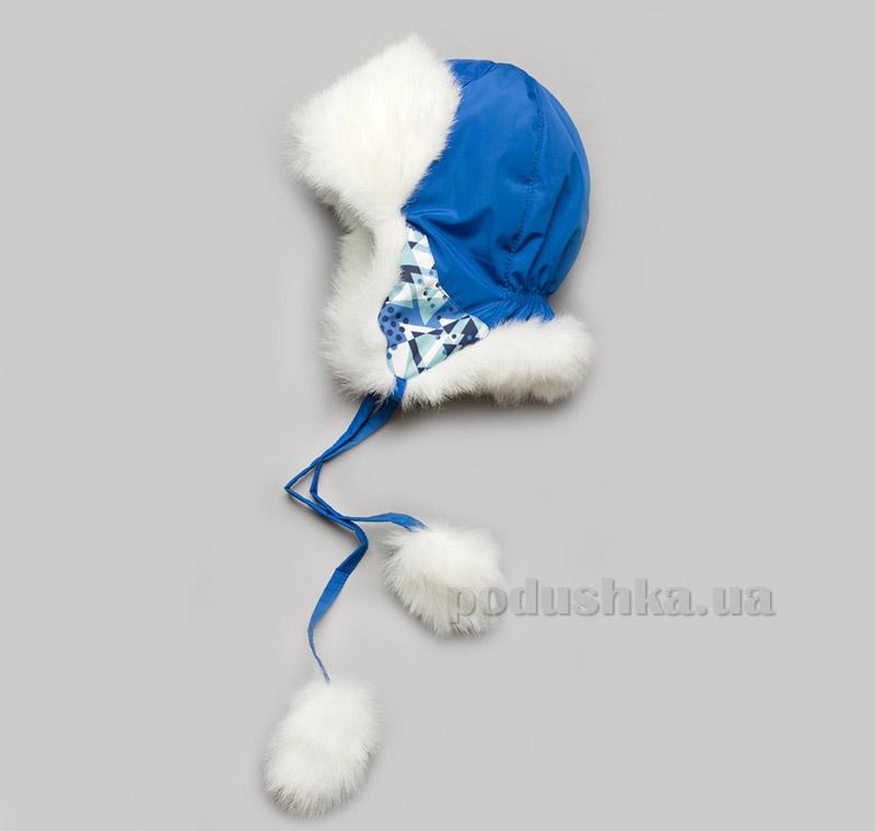 Зимняя шапка для мальчика Модный Карапуз Geometry new 03-00604
