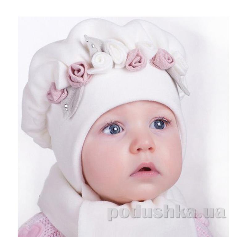 Зимняя шапка и шарф Pupill Golden