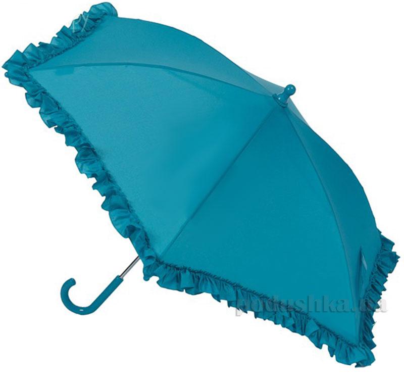 Зонт механический с рюшами Airton 1552 голубой