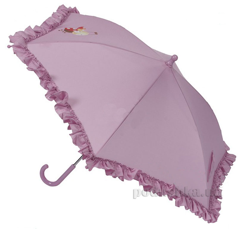 Зонт механический с рюшами Airton 1552 сиреневый