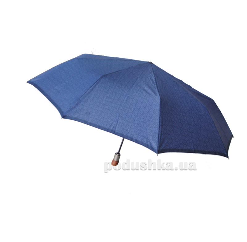 Зонт мужской автомат Клетка Zest 43932 синий