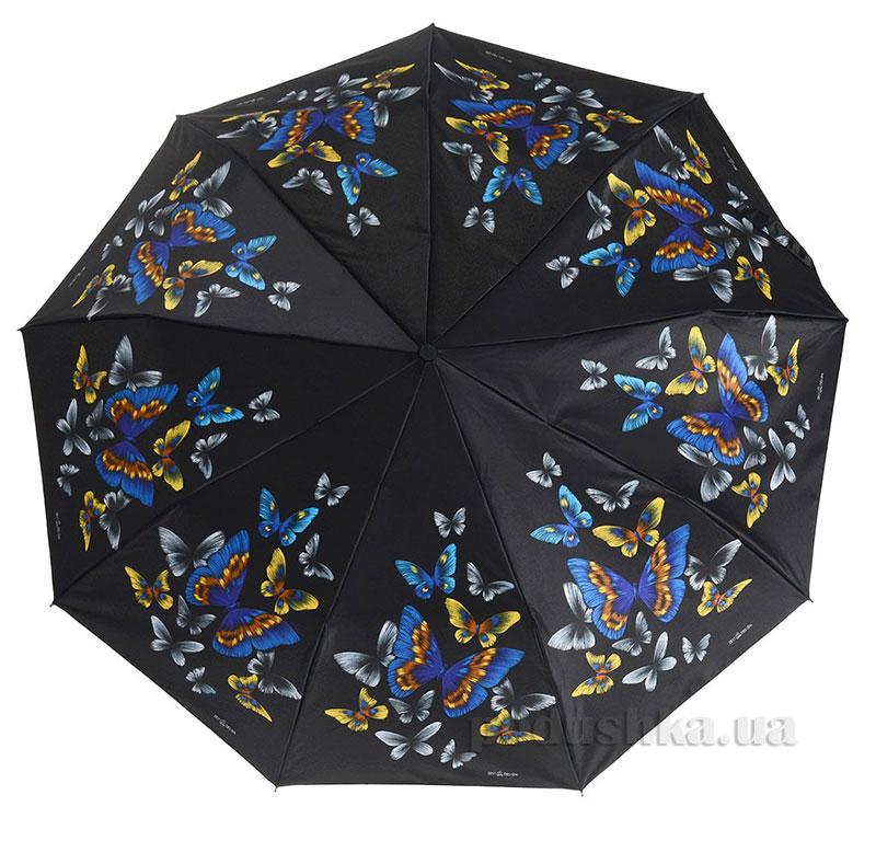 Зонт женский Zest автомат-3 сложения 53626 Бабочки
