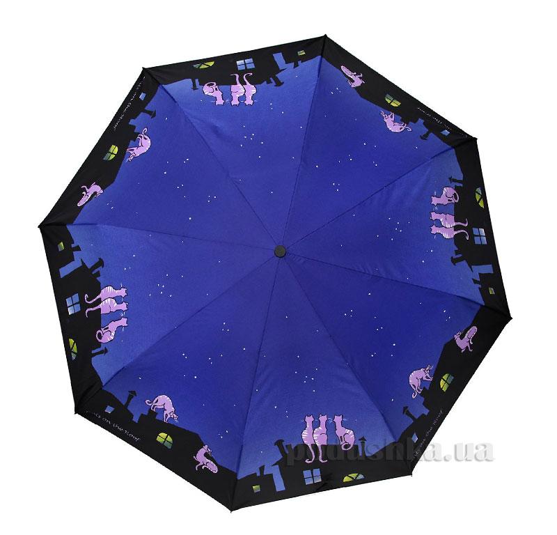 Зонт женский Zest автомат-3 сложения 53626 Коты