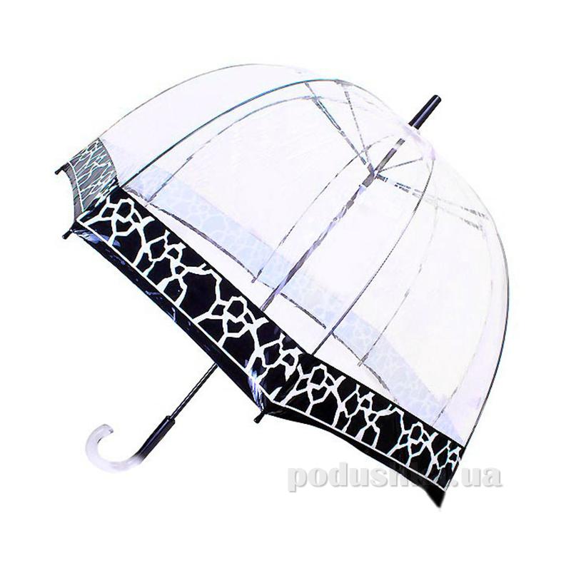 Зонт-трость женский прозрачный Zest 51570 Графика