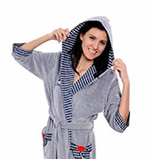 Женский халат на поясе Arya