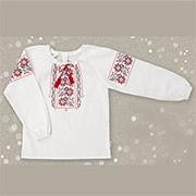 Рубашка в этно стиле для девочки Bembi РБ56 лен