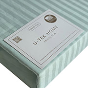 Простынь Light Mint Stripe сатин U-tek Home