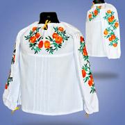Вышитая блуза для девочек Сварга Бархатцы