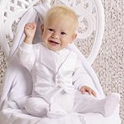 Комплект крестильный для мальчика Модный карапуз 03-00454 Белый