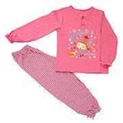 Комплект для девочки МТФ 00322 П клетка розовый