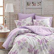 Комплект постельного белья Arya Alacati ранфорс лиловый