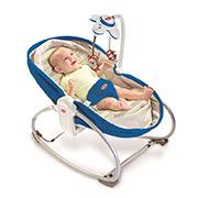 Кресло-кроватка-качалка 3 в 1 Мамина любовь Tiny Love синяя