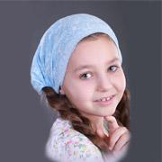 Повязка-косынка для девочки Бабасик Даша голубая