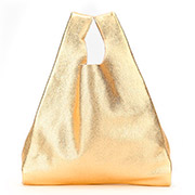 Кожаная сумка Poolparty Tote leather tote gold
