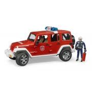 Джип Пожарный Wrangler Unlimited Rubicon+ фигурка пожарника М1:16 Bruder AKT-02528