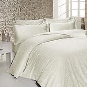 Комплект постельного белья SoundSleep Sarmasik Krem сатин-жаккард кремовый
