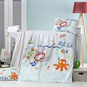 Детское постельное белье Victoria Bebek Bue Sea 28341