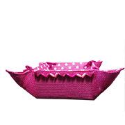 Тканевая хлебница Arya розовый горох