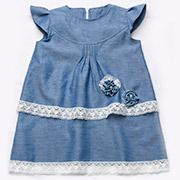 Платье с кружевом Модный карапуз 03-00494 синее