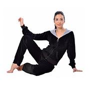 Женская пижама на молнии Arya 13300 черная