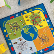 Коврик в детскую комнату Confetti Four seasons mavi
