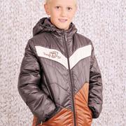 Куртка демисезонная для мальчика Модный карапуз 03-00456 коричневая