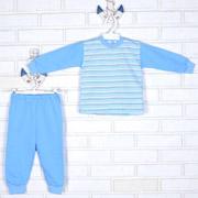 Пижама для мальчика Татошка футер 01202 голубая