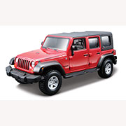 Авто-конструктор - Jeep Wrangler Unlimited Rubicon (красный, 1:32) 18-45121
