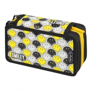 Пенал пустой Herlitz Triple Smileyworld Black & Yellow 50015436