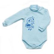 Боди для новорожденного Модный карапуз 302-00015 голубой
