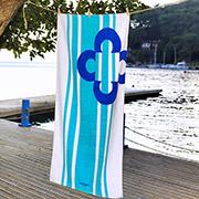 Пляжное полотенце Marie Claire Belen голубое