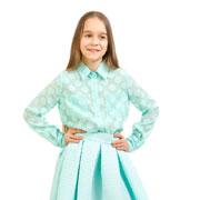 Блуза шифоновая Горох Kids Couture мятная