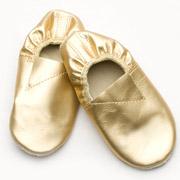 Чешки кожаные Модный Карапуз золотые 06-00011