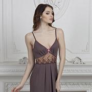 Ночная сорочка Violet delux НС-М-38 молочный шоколад