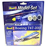 Конструктор Model Set Самолет Boeing 747-200 1:450 Revell 63999