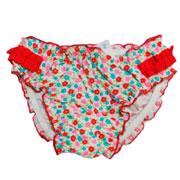 Плавки для девочки Baby Keyzi бело-красные