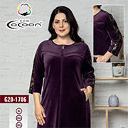 Жіночий халат 20-1706 Cocoon purple
