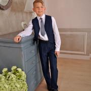 Прямые школьные брюки Милана БМ-03103 синие