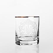 Набор стаканов для виски золото Barline Bohemia Sklo 18-08-280-6-009