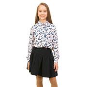 Блуза шифоновая Бант Kids Couture розовая