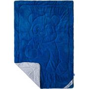 Махровое одеяло Пандочка двухстороннее SoundSleep Cute синее с белым