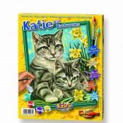 Художественный творческий набор Кошка с котенком