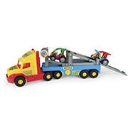 Игрушечная машинка Super Truck эвакуатор с авто-багги Wader 36630
