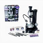 Микроскоп 100/200/300 с принадлежностями, мобильная подсветка