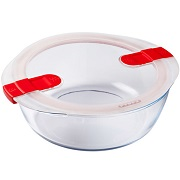 Форма с крышкой Pyrex Cook&Heat круглая 26х23х8см 2.3л 208PH00 стекло