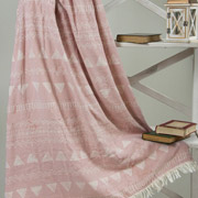Плед микроплюш Barine Chalkboard throw pink